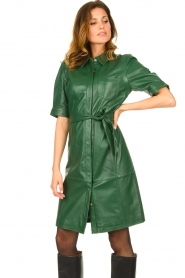 Dante 6 :  Leather dress Chandler | green - img4