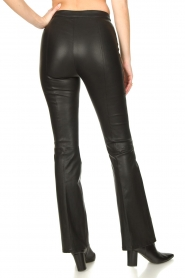 Dante 6 |  Flared leather leggings Tyson | black  | Picture 6