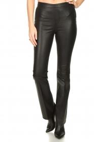 Dante 6 |  Flared leather leggings Tyson | black  | Picture 4