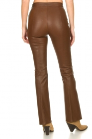 Dante 6 |  Flared stretch leather leggings Tyson | brown  | Picture 7