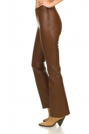 Dante 6 |  Flared stretch leather leggings Tyson | brown  | Picture 6