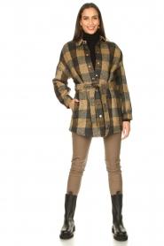 Dante 6 |  Stretch leather leggings Lebon | taupe  | Picture 3