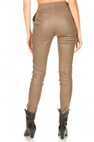 Dante 6 |  Stretch leather leggings Lebon | taupe  | Picture 6