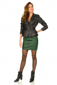 Dante 6 |  Leather skirt Dyna | green  | Picture 3
