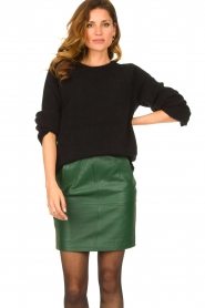 Dante 6 |  Leather skirt Dyna | green  | Picture 4