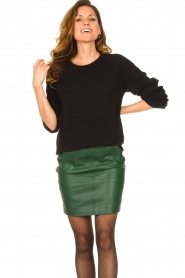 Dante 6 |  Leather skirt Dyna | green  | Picture 2