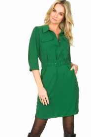 Dante 6 |  Belted dress Dresia | green  | Picture 2