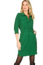 Dante 6 |  Belted dress Dresia | green  | Picture 4