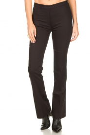 Dante 6 |  Straight cotton trousers Azumi | black  | Picture 4