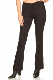 Dante 6 |  Straight cotton trousers Azumi | black  | Picture 5