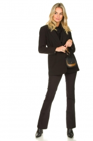 Dante 6 |  Straight cotton trousers Azumi | black  | Picture 3