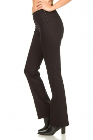Dante 6 |  Straight cotton trousers Azumi | black  | Picture 6