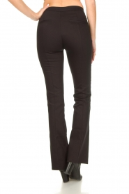 Dante 6 |  Straight cotton trousers Azumi | black  | Picture 7