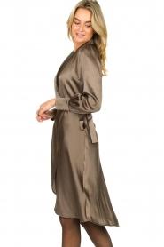 Dante 6 |  Satin dress Frieda | grey  | Picture 5