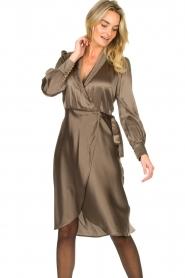 Dante 6 |  Satin dress Frieda | grey  | Picture 4
