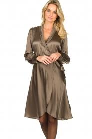 Dante 6 |  Satin dress Frieda | grey  | Picture 2