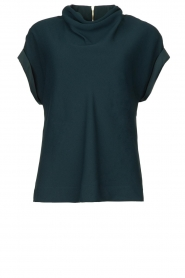 Dante 6 |  Top with draped collar Mason | green  | Picture 1