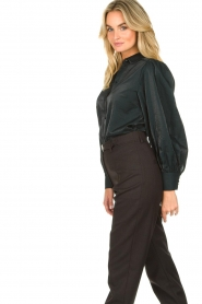 Dante 6 |  Blouse with puff sleeves Mauri | green  | Picture 5
