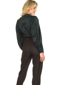 Dante 6 |  Blouse with puff sleeves Mauri | green  | Picture 6