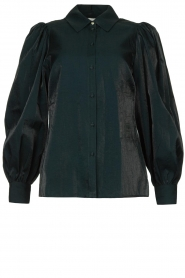 Dante 6 |  Blouse with puff sleeves Mauri | green  | Picture 1