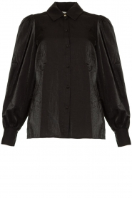 Dante 6 |  Blouse with puff sleeves Mauri | black  | Picture 1