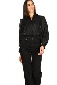 Dante 6 |  Blouse with puff sleeves Mauri | black  | Picture 2