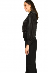 Dante 6 |  Blouse with puff sleeves Mauri | black  | Picture 4