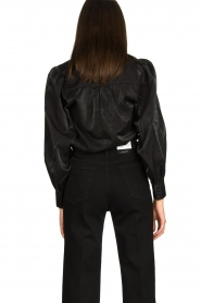 Dante 6 |  Blouse with puff sleeves Mauri | black  | Picture 5