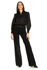 Dante 6 |  Blouse with puff sleeves Mauri | black  | Picture 3