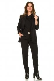 Dante 6 |  zwart | Pants with pleats Bowie   | Picture 2