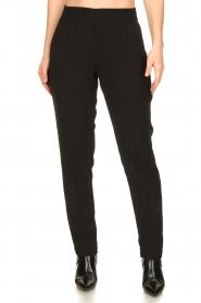 Dante 6 |  zwart | Pants with pleats Bowie   | Picture 4