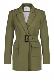 Aaiko |  Belted blazer Larise | green  | Picture 1