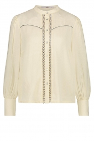 Aaiko |  Blouse with pleated sleeves Tamia | white  | Picture 1