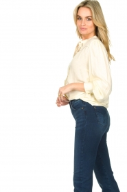 Aaiko |  Blouse with pleated sleeves Tamia | white  | Picture 6