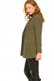 Aaiko |  Belted blazer Larise | green  | Picture 6