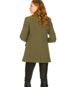 Aaiko |  Belted blazer Larise | green  | Picture 7