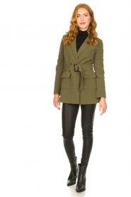 Aaiko |  Belted blazer Larise | green  | Picture 3