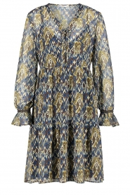 Aaiko |  Printed dress with ruffles Isabel | blue  | Picture 1
