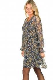 Aaiko |  Printed dress with ruffles Isabel | blue  | Picture 5