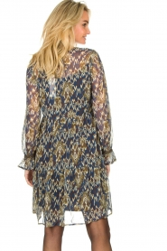 Aaiko |  Printed dress with ruffles Isabel | blue  | Picture 7