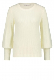 Aaiko |  Sweater with balloon sleeves Elyse | white  | Picture 1