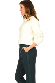 Aaiko |  Sweater with balloon sleeves Elyse | white  | Picture 5