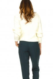 Aaiko |  Sweater with balloon sleeves Elyse | white  | Picture 6