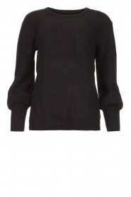 Aaiko |  Sweater with balloon sleeves Elyse | black  | Picture 1