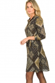 Aaiko |  Print dress Gilena | black  | Picture 5