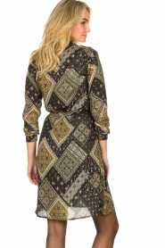 Aaiko |  Print dress Gilena | black  | Picture 6