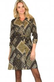 Aaiko |  Print dress Gilena | black  | Picture 4