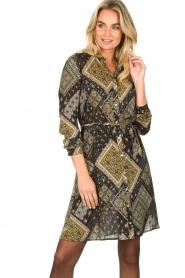 Aaiko |  Print dress Gilena | black  | Picture 2