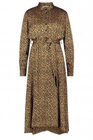 Aaiko |  Printed midi dress with belt Soila | brown  | Picture 1