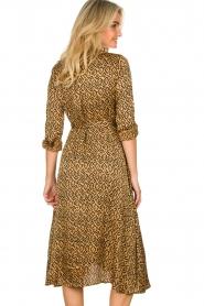 Aaiko |  Printed midi dress with belt Soila | brown  | Picture 6